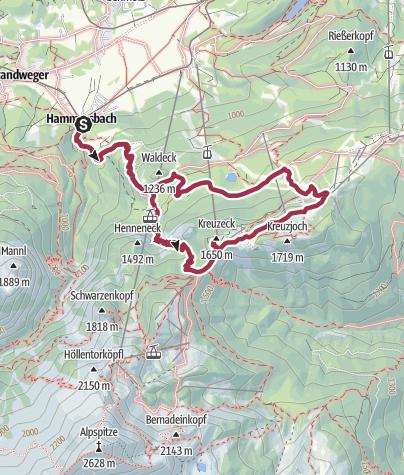 Ansichten & Landkarten Ausschnitt Von 1936 Kreuzeckhaus Bei Garmisch Sonstige