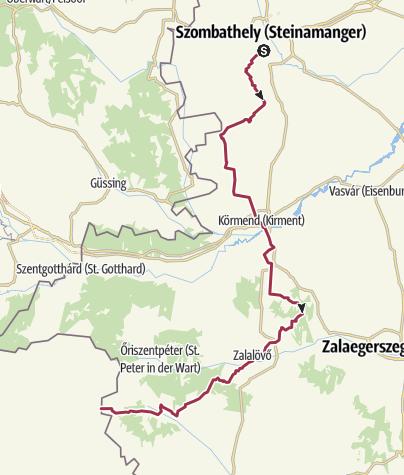 Karte / Via Sancti Martini - Wanderweg Sankt Martin (Region Pannonien)