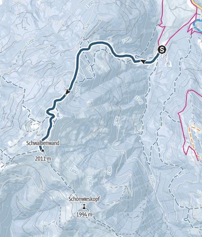 Karte / Skitour Schwalbenwand 2011 m