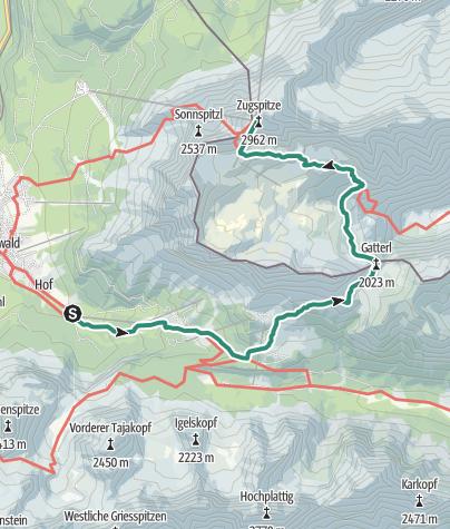 Map / Ehrwald - Gatterl - Zugspitze