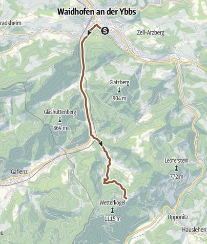 Hartă / Hochseebergtour