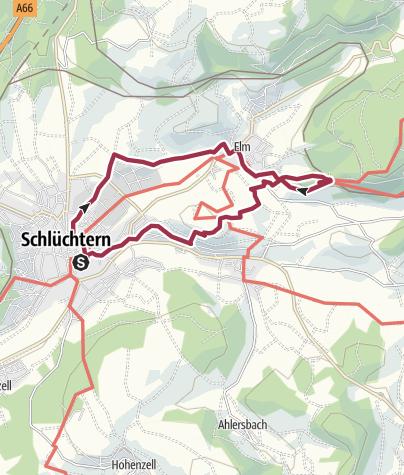 Karte / Von Schlüchtern zur Burg Brandenstein