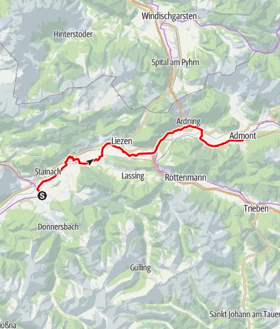 Karte / Etappe 03 Ennsradweg Irdning - Admont
