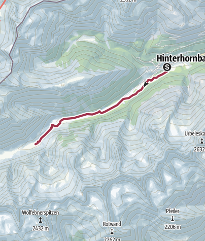Karte / Petersbergalm