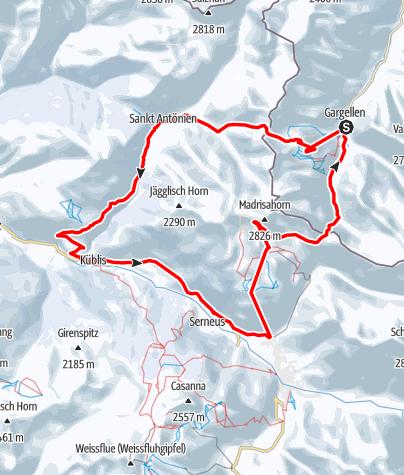Karte / Madrisa Rundtour