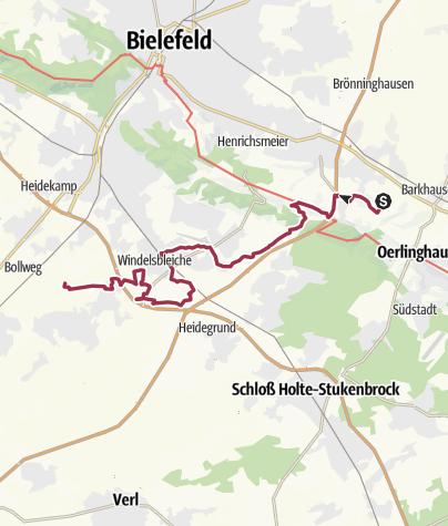 Karte / Der Bielefelder Lämmerweg