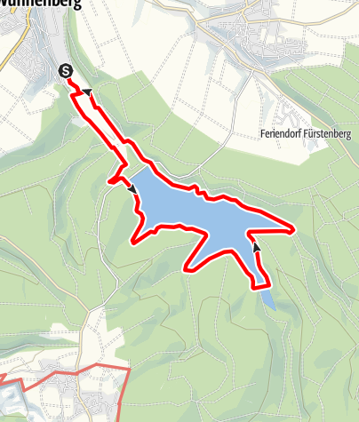 Karte / Bewegung - Wanderweg Aabachtalsperre