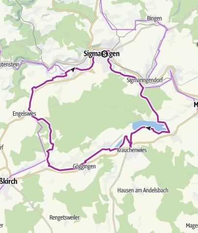 Karte / Radregion Sigmaringen Tour 3 -  Seen-Tour