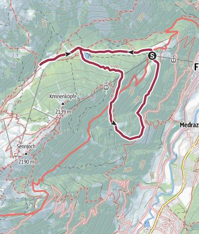 Map / Walk around the alms in Schlick 2000