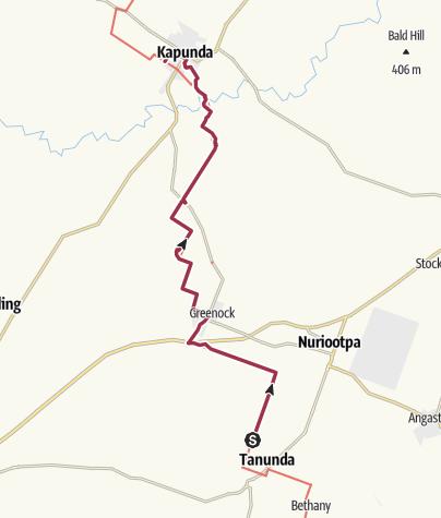 Carte / Heysen Trail - 19. Tanunda to Kapunda 2019