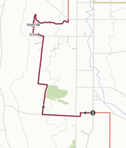 Hartă / Heysen Trail - 21 Hamilton to Peters Hill