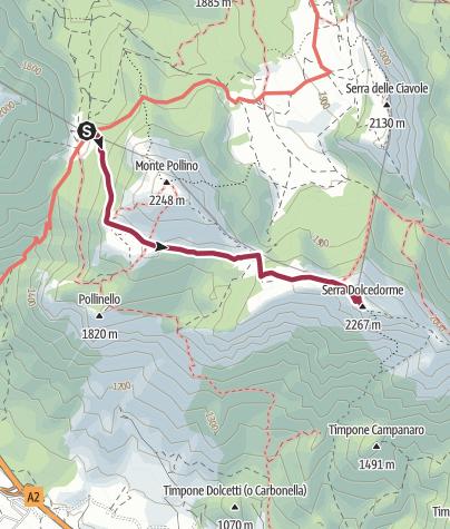 מפה / Piano gaudolino- serra Dolcedorme