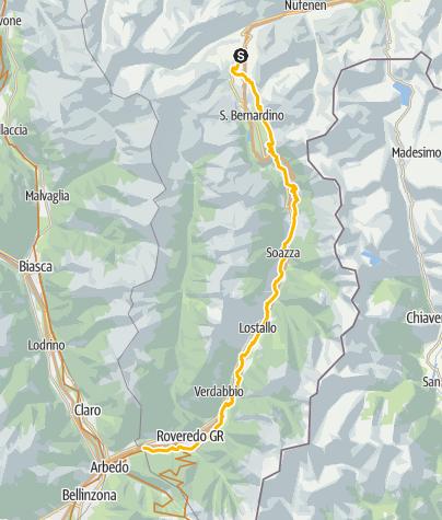 Map / 640 - Mesolcina - S.Bernardino hill/ San Vittore
