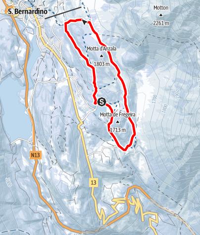 Map / itinerario Pian Scundù S.Bernardino
