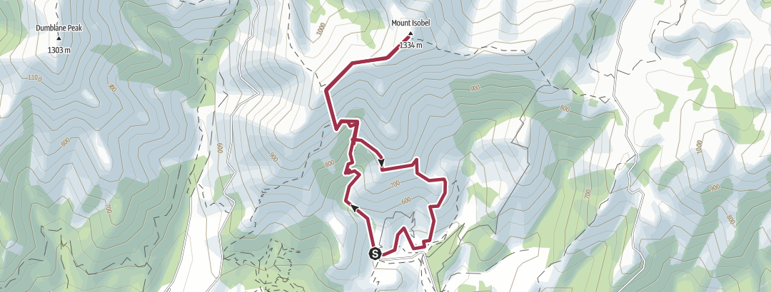 Mappa / 20170813 Mt Isobel