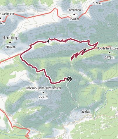 Karte / Anada de Mirador Gresolet a el refugi de Gresolet