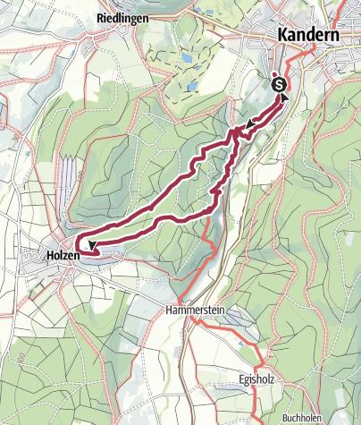 Karte / Wolfsschlucht Kandern
