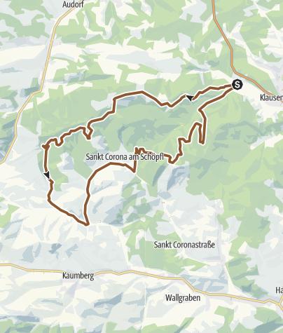 Karte / Schöpfl - Strecke