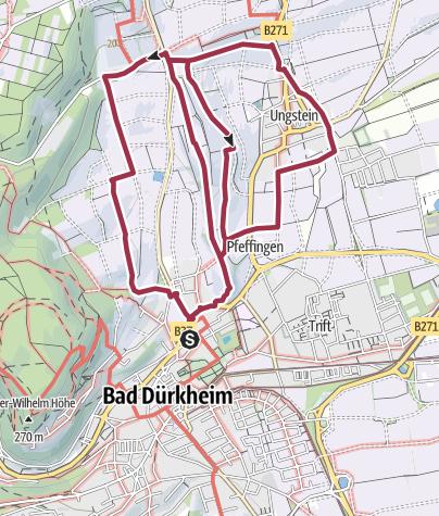 Karte / Bad Dürkheim - Weinwanderwege um Bad Dürkheim