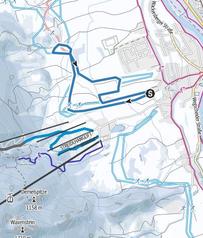 Karte / Klassische und Skating Loipe: Lenggries Rundkurs (5km)