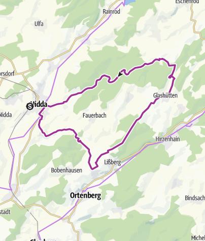 Karte / Höhentour über Nidda- und Niddertal