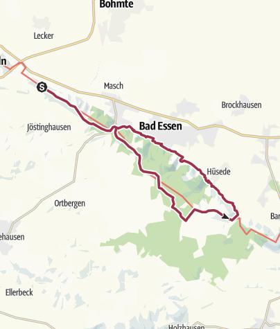 Karte / Der DiVa-Walk: von Bad Essen zu den Saurierfährten (Teil 1)