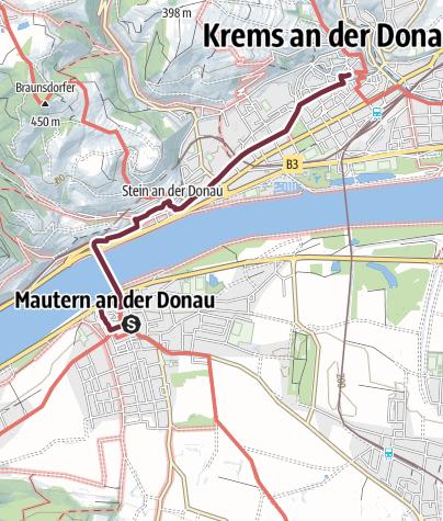 Wachau Karte.Welterbesteig Wachau 14 Mautern Krems Fernwanderweg