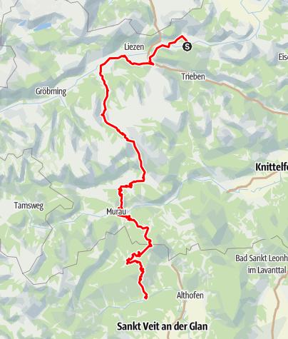 Karte / Hemma Pilgerweg Route Admont