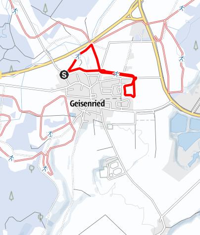 Karte / Rundloipe Geisenried nördlicher Ortsrand