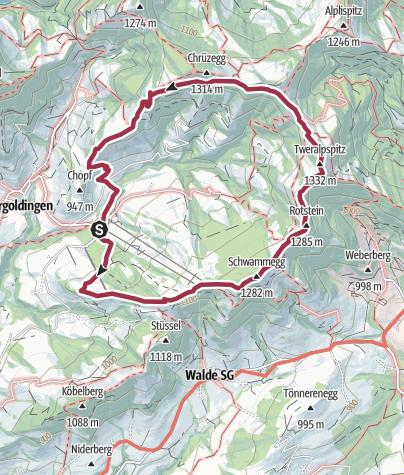 Map / Freie Sicht in die Ostschweiz