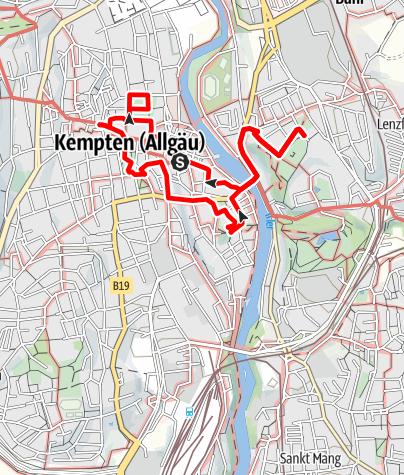Karte / Kempten: Stadtspaziergang