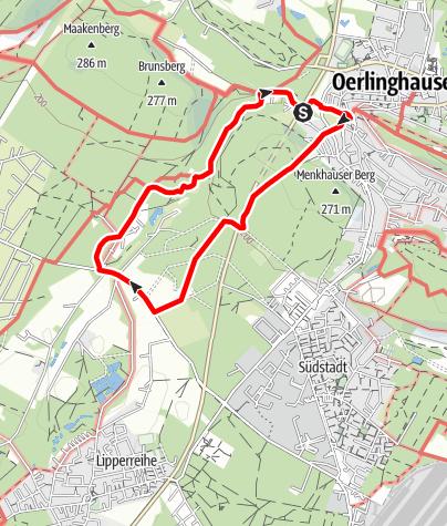 Karte / Oerlinghausen Schmugglertour A6
