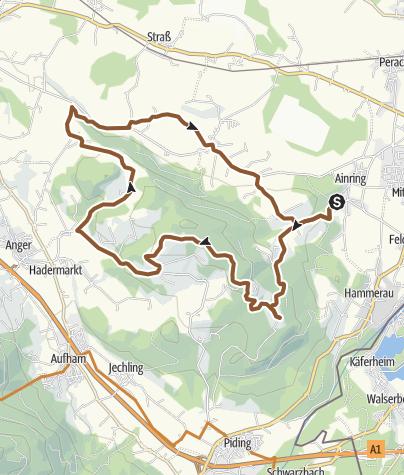 Karte / MTB: 25 - Högl-Runde von Norden