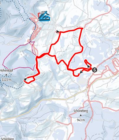 Karte / Panoramaloipe - lange Variante über Hahnemoos Eschacher Weiher