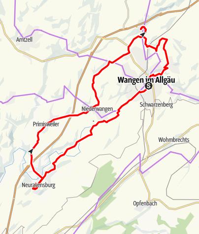 Karte / Radthemenweg: Die Rittersleut um Wangen rum