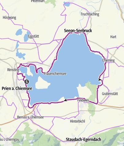 Karte / Chiemsee Rundweg/Radweg