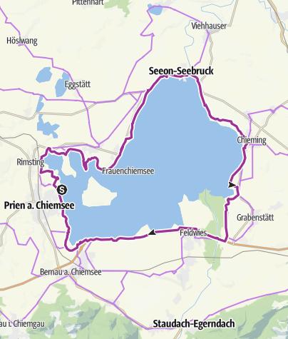 Chiemsee Karte.Chiemsee Rundweg Radweg Radtour Outdooractive Com