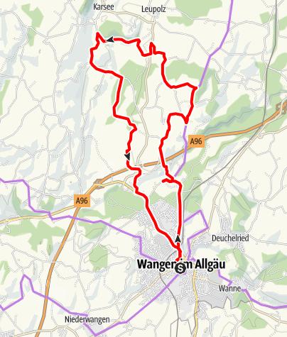 Karte / Radthemenweg: Georoute 21