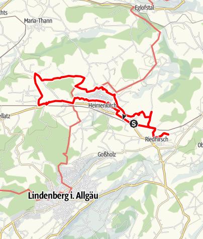 Karte / Im Leiblachtal: Von der Quelle der Leiblach auf der Spur alter Mühlen - Westallgäuer Wasserweg 24