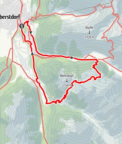 Karte / Hahnenkopf