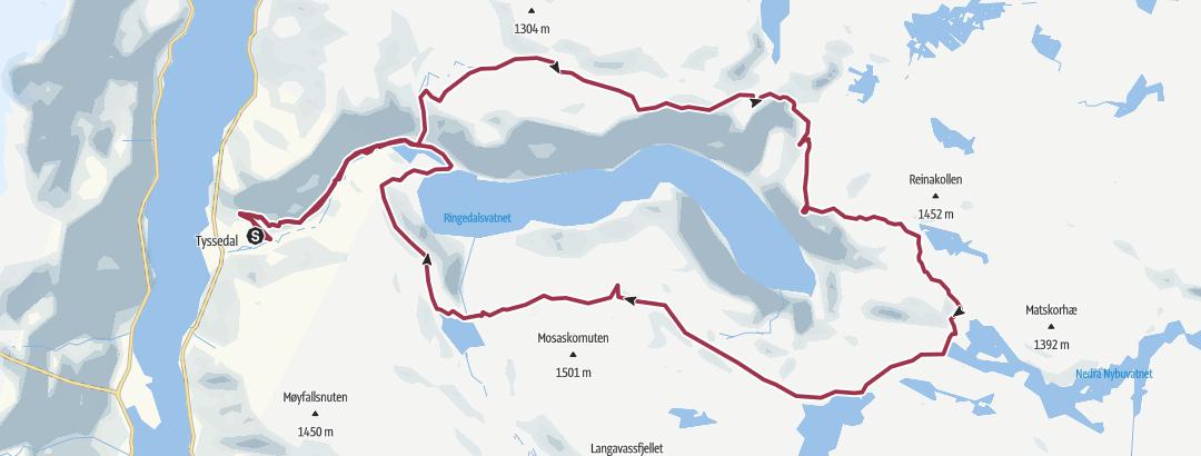 Карта / Track Trolltunga