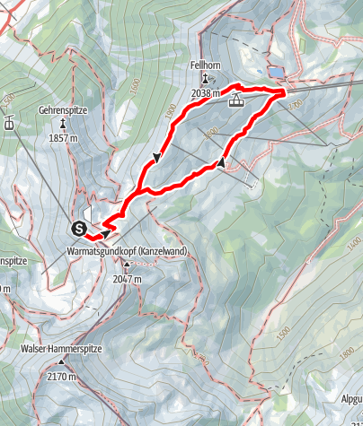 Karte / Blumen - und Wanderlehrpfad