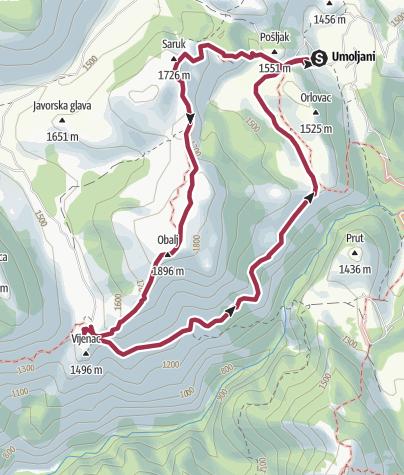 Map / Umoljani-Lukomir