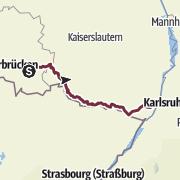 Karte / Saar-Rhein-Wanderweg