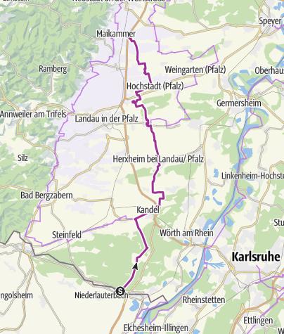 Karte / Südpfalz-Radweg
