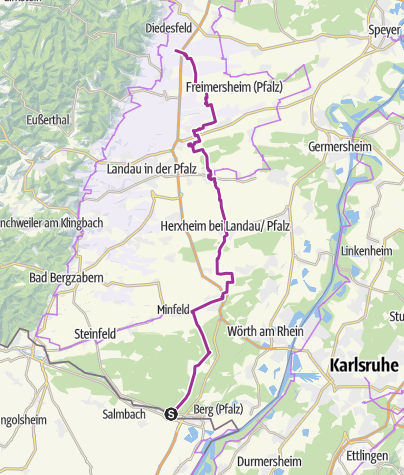 Map / South Palatinate Cycle Route