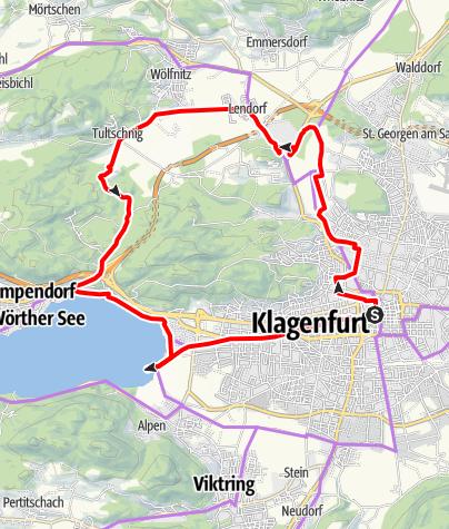 Karte / Schlössertour rund um Klagenfurt am Wörthersee