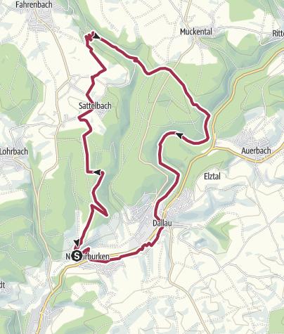 Karte / Römertour im Elzbachtal