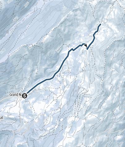 Carte / Grand Naves vers Refuge Nant du Beurre