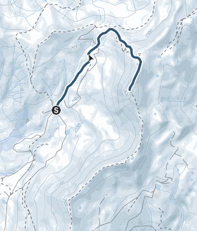 Carte / From Refuge to Pte de Dzonfié